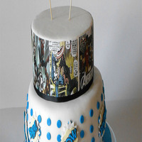 Comic Book Cake Comic book cake for a child who loves superheroes..... other details on my fb page Dolcementefrancy