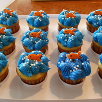 "Fish Cupcakes   Cupcakes I made for an adoption party. The theme was ""It's O - Fish - Al"""