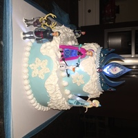 Frozen Infamous Frozen cake for my sweet niece! Thought the LED lights were a nice touch!