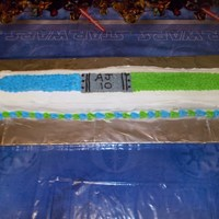 Star Wars Light Saber All buttercream icing
