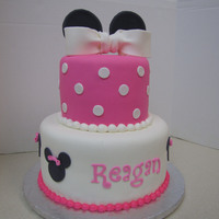 Minnie Mouse Cake Minnie Mouse cake copied from picture on Pinterest.