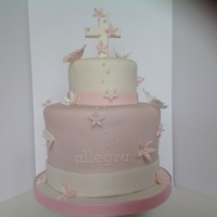 First Holy Communion Cake 6 inch chocolate cake, 4 inch vannlla cake