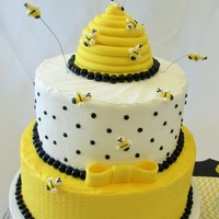 Queen Bee Birthday Cake This was a cake made for a co-worker that we Queen Bee! It was so much fun!