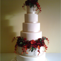 6 Tiers With Sugar Flowers This cake required me to take a giant LEAP outside my comfort zone. I haven't really done many flowers in the past because I didn'...
