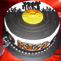 Kiss Destroyer Cake It's my last KISS themed cake for my b-day....I'm very happy my KISS Destroyer cake is on the official Twitter page of the band...