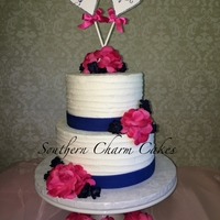 Ambers Wedding Cake   Two tier, rustic wedding cake.