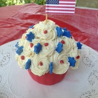 Patriotic Cupcake Made this cupcake on Memorial Day for my husband who is a Vietnam veteran