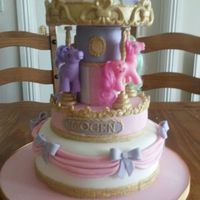 My Little Pony Carousel Cake Rotating carousel