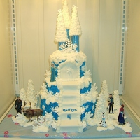 Frozen Castle   Buttercream, chocolate snowflakes