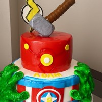Avengers Cake Chocolate cake and chocolate mousse