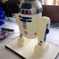 Star Wars, R2D2 Birthday cake for a friend's little guy. Done on very short notice, but I am still pleased.