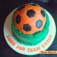 Soccer Ball Cake Soccer ball made out of Rice Krispies and covered with modeling chocolate and fondant. Chocolate cake with Oreo filling vanilla Swiss...