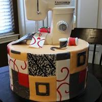Quilted Sewing Machine Quilt squares are MMF. Sewing machine is made out of RKT