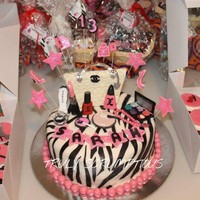 Zebra Cake For my niece