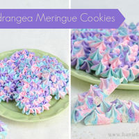 Hydrangea Meringue Cookies Pretty Hydrangea Meringue Cookies. Great for Mother's Day, Tea Parties and more.