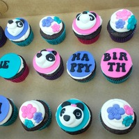 Panda Cupcakes Chocolate cake with Oreo filling and vanilla buttercream. Toppers are made out of fondant.