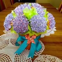 Hydrangea Cupcake Bouquet My most popular design: a hydrangea cupcake bouquet. These are vanilla cupcakes with Swiss meringue vanilla buttercream: a mix of regular...