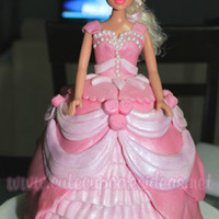 Barbie Princess Cake This was my first attempt at making a Barbie Princess Cake