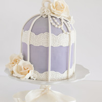 Lavender Birdcage A lavender birdcage cake for Mother's Day.