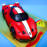 Ferrari!!   3d car cake with chocolate mousse filling!
