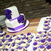 Wedding Cake Edible Violets This wedding cake was made with edible violets because the bride and groom have a special favorite place in Delft where there a wild...