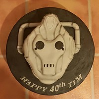 Cyberman Head   Vanilla cake with Raspberry Jam and vanilla buttercream