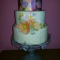Wafer Paper Flowers.   I love using wafer paper to decorate cakes.