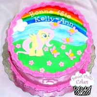 My Little Pony   A my little pony cake using a corrie cakes design for inspiration and made some changes as per the little clients request :)
