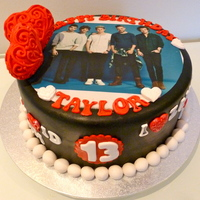 One Direction Cake   13th birthday cake for my granddaughter, who is crazy about One Direction and devastated that Zayn has left the band.
