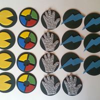 80S Cupcake Toppers   80's cupcake toppers