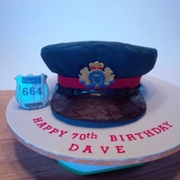 Police Hat Retirement cake