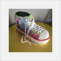 Converse Shoe Daughters Birthday Cake