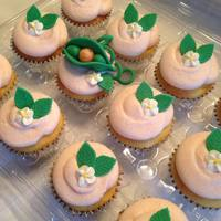 Sweet Pea Baby Shower Cupcakes Fondant adorns these adorable sweet pea cupcakes