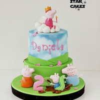 Princess Peppa Pig Cake   This cake was made for the daughter of a friend who loves Peppa Pig.