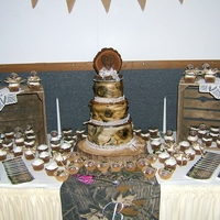 Birch Wedding   My first Birch tree wedding cake and cupcakes!!!