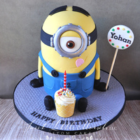 Minion Birthday Cake Fun cake for a 2nd birthday.