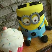 Cupcake Minion 6 year old birthday! Cupcake and Dave the minion was the requirements. :)