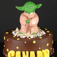 Yoda Star Wars Yoda is cake covered in fondant. The head is fondant with tylose powder. May the 4th be with you all tomorrow! Chocolate letters on a...
