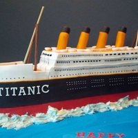Titanic Carved cake.