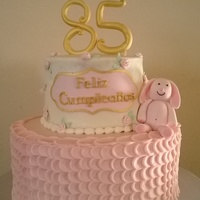 Pink And Golden Cake birthday cake