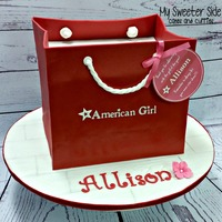 Ag Cake   American girl bag cake