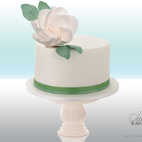Green Mini Wedding Cake couple had a small allergy-free cake for themselves and their mothers. rest of the guests got a big wedding cake from another bakery....