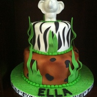 Jungle Birthday!   Fondant and Buttercream French Vanilla Cake~