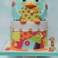 Owl And Patchwork Made this for my little girl's 1st birthday last weekend