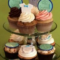 Oh Boy! Baby Shower Cupcakes Baby shower Oh Boy cupcakes