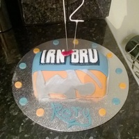Irn Bru Cake My son's favourite of all time.. Irn Bru cake for 12th birthday of my patriotic little Scot..