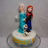 Frozen Anna, Elsa and Olaf