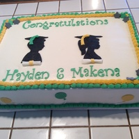 Grade School Graduation Cake for two cousins. Graduating grade school.