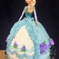 Elsa Cake Frozen theme Elsa Cake all buttercream