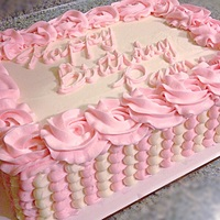 Buttercream 1/4 sheet double layer